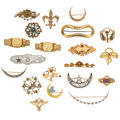 Estate Jewelry:Brooches - Pins, Diamond, Multi-Stone, Seed Pearl, Enamel, Gold, Yellow MetalBrooches. ... (Total: 20 Items)