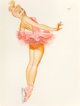 George Petty (American, 1894-1975) Back Bend on Toes Ballet, Ice Capades, 1962 Watercolor on paper 16.5 x 22.5 in. (s