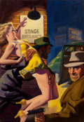 Mainstream Illustration, Hugh Joseph Ward (American, 1909-1945). Undercover Man, PrivateDetective magazine cover, April 1942. Oil on canvas. 30....(Total: 2 Items)