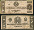 Confederate Notes:Group Lots, CSA - Lot of 2 December 2, 1862 Treasury Notes.. ... (Total: 2notes)