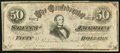 "Confederate Notes:Group Lots, CSA - February 17, 1864 CT66/501 $50 ""Havana"" Counterfeit.. ..."