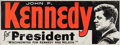 Political:Posters & Broadsides (1896-present), John F. Kennedy: Wisconsin Masonite Campaign Sign....