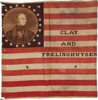 Henry Clay: A Striking 1844 Campaign Flag Banner