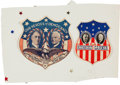 Political:Small Paper (1896-present), Roosevelt & Garner: Two Different Jugate Window Stickers....