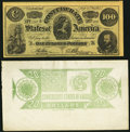 Confederate Notes:Group Lots, CSA - Lot of 2 Modern Confederate Note Impressions.. ... (Total: 2notes)