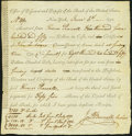 Miscellaneous:Other, MY - Financial Americana - 1792 Office of Discount and Deposit ofthe Bank of the United States, New York Receipt Form for Pay...