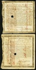 Colonial Notes:Virginia, Colonial American Fiscal Paper - Lot of 10 Commonwealth of Massachusetts Treasury-Office Forms.. ... (Total: 10 notes)