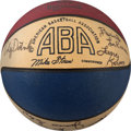 Basketball Collectibles:Balls, 1975-76 San Antonio Spurs (ABA) Team Signed Basketball (Storen)....