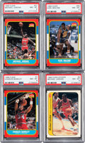 Basketball Cards:Lots, 1986 Fleer Basketball Collection (141) With Jordan Rookie. ...