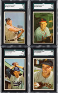 Baseball Cards:Lots, 1953 Bowman Color Baseball Collection (25) With Mantle. ...