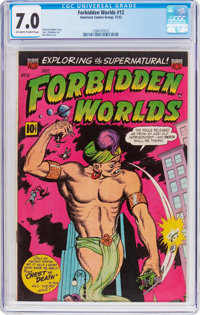 Forbidden Worlds #12 (ACG, 1952) CGC FN/VF 7.0 Off-white to white pages