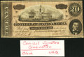 "Confederate Notes:Group Lots, CSA - February 17, 1864 T67 $20 ""Black and White"" Signatures.. ...(Total: 2 items)"