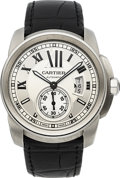 Timepieces:Wristwatch, Cartier Gent's Calibre de Cartier Ref. 3299 Automatic Steel Wristwatch. ...