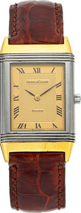 Timepieces:Wristwatch, Jaeger LeCoultre Ref. 140.251.5 Steel & Gold Reverso Classic....