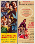 """Movie Posters:Adventure, Plymouth Adventure & Others Lot (MGM, 1952). Inserts (4) (14"""" X36""""). Adventure.. ... (Total: 4 Items)"""