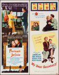 "Movie Posters:Romance, Portrait of Jennie & Other Lot (Selznick, R-1956). Inserts (2)(14"" X 36""). Romance.. ... (Total: 2 Items)"