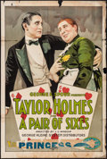 """Movie Posters:Comedy, A Pair of Sixes (Essanay, 1918). One Sheet (28"""" X 42""""). Comedy....."""