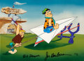 "Animation Art:Limited Edition Cel, The Flintstones ""Paper Airplane"" Limited Edition CelArtist's Proof #4/20 (Hanna-Barbera, 1989)...."