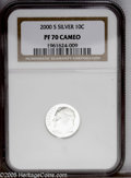 Proof Roosevelt Dimes: , 2000-S 10C Silver PR70 Cameo NGC. NGC Census: (40/0). (#85291)...