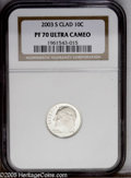 Proof Roosevelt Dimes: , 2003-S 10C Silver PR70 Ultra Cameo NGC....