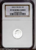 Proof Roosevelt Dimes: , 2003-S 10C Silver PR70 Deep Cameo NGC. PCGS Population (140/0).Numismedia Wsl. Price: $160. (#95307)...