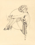 Mainstream Illustration, Olivia De Berardinis (American, b. 1948). Glamorous Cocktail,Chumley's Restaurant and Bar invitation, 1979. Pencil and ...