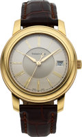 Timepieces:Wristwatch, Tiffany & Co. Gent's 18k Yellow Gold Automatic. ...