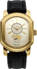 Timepieces:Wristwatch, Tiffany & Co. 18k Gold Mark Coupe Automatic With Power ReserveIndication. ...