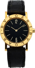 "Timepieces:Wristwatch, Bulgari Mid-size Gold Watch, ""Julio's Christmas Present to Group of Friends"". ..."