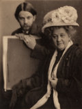 Photographs:Photogravure, Clarence Hudson White (American, 1871-1925). Alvin LangdonCoburn and His Mother, circa 1909. Photogravure. 8-1/4 x6-1/...