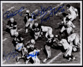 Football Collectibles:Photos, Green Bay Packers Multi-Signed Photograph - Starr, Hornung, Kramer,Thurston & Knafelc....