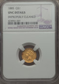 1885 G$1 -- Improperly Cleaned -- Details NGC. UNC. NGC Census: (3/377). PCGS Population: (8/398). CDN: $425 Whsle. Bid...