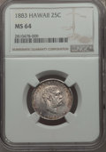 Coins of Hawaii , 1883 25C Hawaii Quarter MS64 NGC. NGC Census: (244/276). PCGSPopulation: (358/342). CDN: $400 Whsle. Bid for problem-free ...