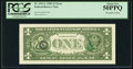 Error Notes:Third Printing on Reverse, Overprint on the Back Fr. 1913-L $1 1985 Federal Reserve Note. PCGS About New 50PPQ.. ...