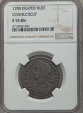 Colonials, 1788 Connecticut Copper, Draped Bust Left Fine 15 NGC. NGC Census: (4/48). PCGS Population: (4/50)....