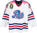 Hockey Collectibles:Uniforms, 2001 Blake Evans Regina Pats Game Worn Jersey - Included MemorialCup Patch. ...