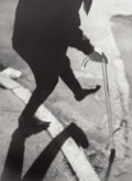 Photographs:Gelatin Silver, Michael Spano (American, b. 1949). Untitled (Man with a cane), 1993 and Untitled (Grid), 1992 (two photograp... (Total: 2 Items)