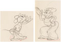 Animation Art:Production Drawing, Mickey's Rival Mickey Mouse and Mortimer Animation DrawingsGroup of 2 (Walt Disney, 1936). ... (Total: 2 )