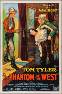 "The Phantom of the West (Mascot, 1931). One Sheet (27"" X 41""). Chapter 9 -- ""The Fatal Secret."" Seri..."