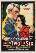 """Movie Posters:Drama, From Two to Six (Triangle, 1918). One Sheet (27.5"""" X 41""""). Drama.. ..."""