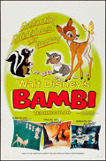 "Movie Posters:Animation, Bambi (Buena Vista, R-1966, R-1975). One Sheet (R-1966) (27"" X 41"")& Insert (R-1975) (14"" X 36""). Animation.. ... (Total: 2 Items)"