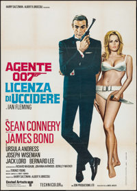 "Dr. No (United Artists, R-1970s). Italian 2 - Fogli (39.25"" X 55""). James Bond"