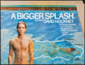 "Movie Posters:Documentary, A Bigger Splash (Buzzy Enterprises, 1974). British Quad (30"" X 40""). Documentary.. ..."