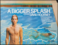 "A Bigger Splash (Buzzy Enterprises, 1974). British Quad (30"" X 40""). Documentary"