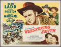 """Movie Posters:Western, Whispering Smith (Paramount, 1949). Half Sheet (22"""" X 28"""") Style A. Western.. ..."""