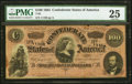 Confederate Notes:1864 Issues, Red Underprint T65-R $100 1864 PF-1 Cr. 490.. ...
