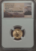 Modern Bullion Coins, 2015 $5 Tenth-Ounce Gold Eagle, First Releases, MS70 NGC. NGC Census: (0). PCGS Population: (2730)....