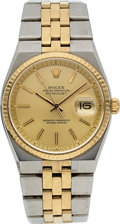 Timepieces:Wristwatch, Rolex Rare Ref. 1630 Steel & Gold Oyster Perpetual Datejust, circa 1977. ...