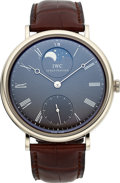 Timepieces:Wristwatch, IWC 18k White Gold Ref. 5448 Portofino Moonphase VintageCollection. ...