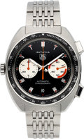 Timepieces:Wristwatch, Tag Heuer Autavia CY2111 Steel Automatic Chronograph. ...